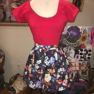 d0731cb2b Wet Seal Skirts | Floral Skirt Juniors Extra Small | Poshmark